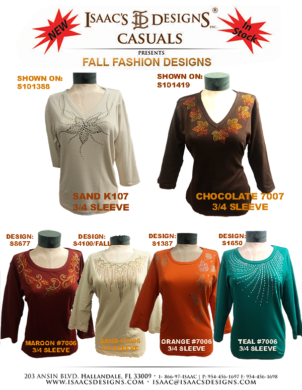 FALL FASHION DESIGNS: SCOOP & V-NECK S8677,S4100-FALL,S1387,S165