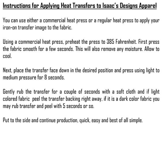 Instructions for applying PAPER Transfers