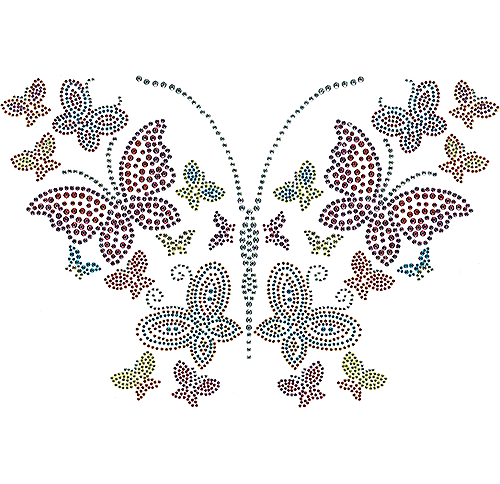 S101135-COL - 10-Color Butterflies with 3 & 4 mm Studded Wings