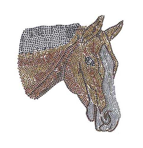 "S101315-6.57""x 6.39""Horse head- Brown,Sm.Topaz,Topaz,Jet Black,C"