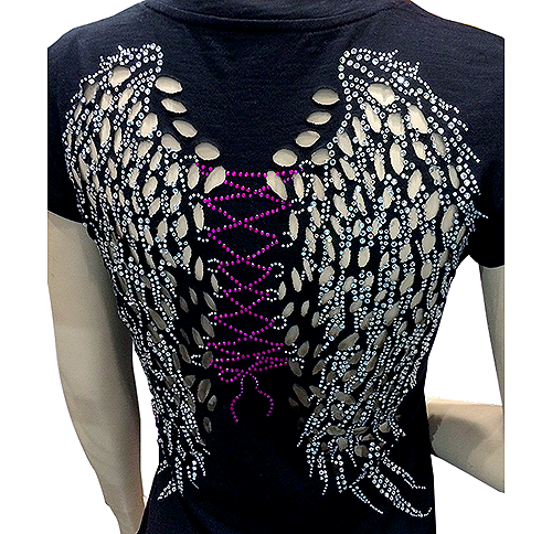 S101578-FUC - Angel Wings with Fuchsia String Design photo