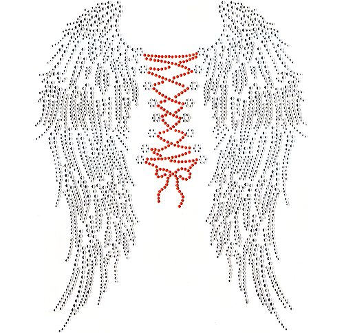S101578-ORG - Angel Wings with Orange String