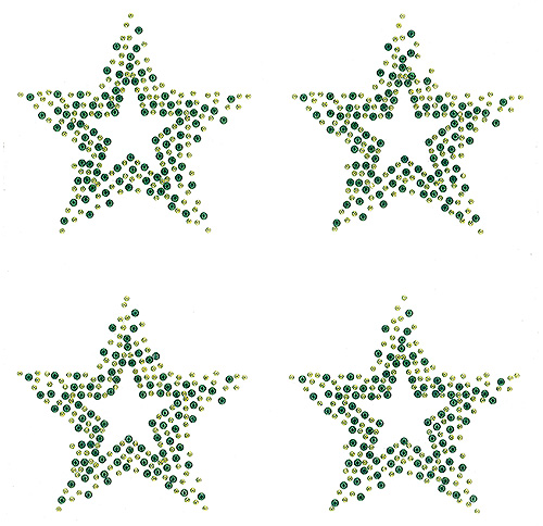 S9108-LIME - Star - 4 per Sheet (15/4)